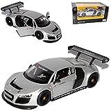 Rastar Audi R8 GT Le Mans LMS Silber 1/24 Modell Auto mit individiuellem Wunschkennzeichen