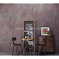 Retro puro cemento gris vinilo papel tapiz pared salón bar cafetería restaurante tienda de ropa papel tapiz de fondo rollo 10 * 0.53m