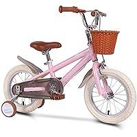 XMIMI Bicicletas para niños Hombres y Mujeres Pedal para niños Modelos Princess Bicicleta para niños Retro 14 Pulgadas 16 Pulgadas 18 Pulgadas