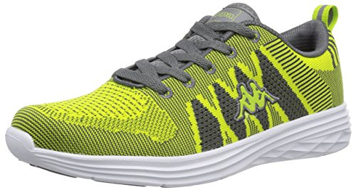 Kappa FENIX Footwear Unisex-Erwachsene Sneakers Grün (3316 lime/grey)