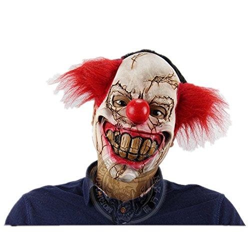 Halloween Latex Schrecklich Fledermaus Clown Maske Kostüm (Rot (Size Werwolf Kostüme Plus)