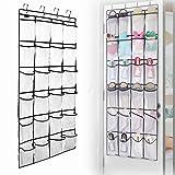 YUMOMO Ordnungssysteme an der Tür mit 24 Taschen, Hängeorganizer, Hängeaufbewahrung, Schuhschränke, Multifunktionale Aufbewahrungstasche (Feinmaschiges Weiß)
