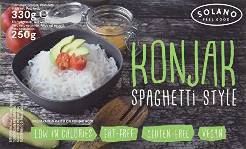 Solano Konjaknudel im 10er-Set I Konjak-Spaghetti aus Konjakmehl I Low Carb Pasta I die Shirataki Nudeln sind vegan, fettfrei, glutenfrei, kalorienarm I eignen sich perfekt für Diäten