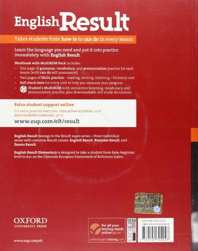 English Result Elementary. Workbook + multi-ROM Pack