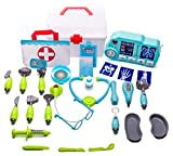 Deluxe Doctor Play Set - 32 pieces including tote bag, storage case and xray machine with light and sound