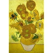 Tournesols dans un vase, Vincent van Gogh: Carnet ligné, 160 pages, dimensions: 15.24 x 22.86 cm, Feuilleté