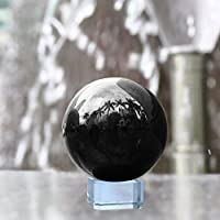Neewer 80mm/ 3,15 Pulgadas Globo Bola de Cristal Negro con Soporte Cristalino para Feng Shui/Adivinación o Boda/Hogar / Decoración de Oficina