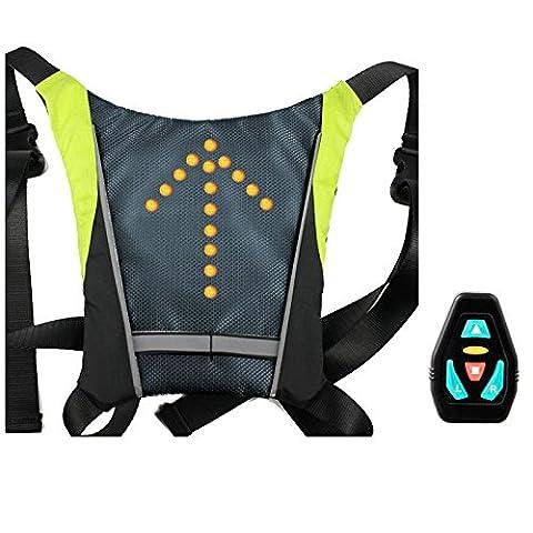 Blinker reflektierende Weste Rucksack für Nacht Fahrradsicherheit