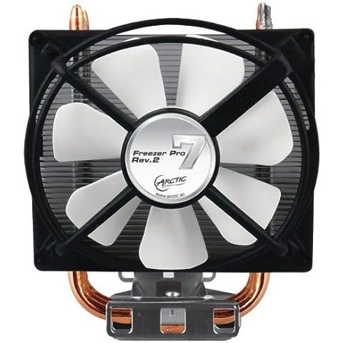 ARCTIC Freezer 7 Pro Rev. 2 - Ventilador de PC (Enfriador, Procesador, 97 x 115 x 145 mm, Aluminio y cobre, Negro, Plata, 96 x 108 x 127 mm)