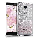 kwmobile Funda para Huawei Honor 5X / GR5 - Carcasa de [TPU] para móvil y diseño de Sol hindú en [Rosa Claro/Blanco/Transparente]