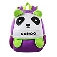 BINGONE Nohoo Kids Backpack 3D Animal Panda School Travel Rucksack Purple
