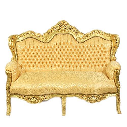 Barock 2-er Sofa King Gold Muster/Gold - Barock Möbel