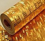 YUELA Modern Luxury Glitter Mosaik Tapete Rolle Hintergrund Tapete Wand Goldfolie Wand-Papier Silber Ktv Bar Deckenwandbespannung, Q