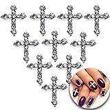 3D Nail Art Maniküre Designs Set von 100Kreuze Dekorationen besetzt mit klaren Kristallen Strass Gems