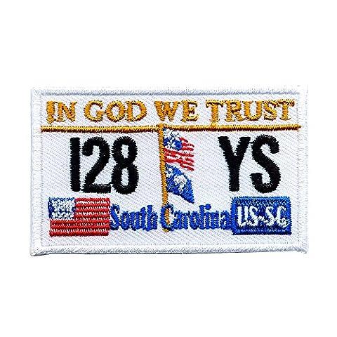 Caroline du Sud Plaque d'immatriculation États-Unis bundesstaaten Patch écusson thermocollant 0618