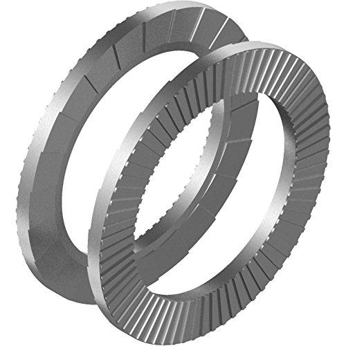 100 pcs cuneo-rondelle di blocco DIN 25201 - in acciaio inox A4 per M 5