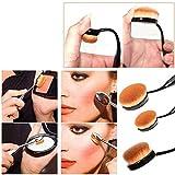 Imported 10pcs/Set Toothbrush Makeup Brush Eyebrow Oval Powder Cream Foundati