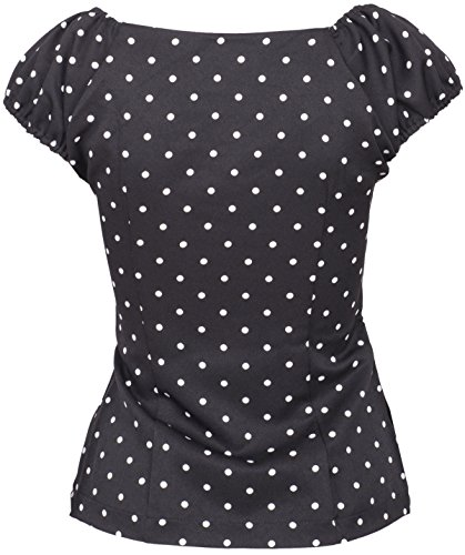 Küstenluder TREASA Pin Up POLKA DOTS Punkte 50s BLUSE Shirt Rockabilly -