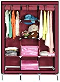 ADA Handicraft Collapsible Portable Closet Storage Organizer Wardrobe Clothes Rack with Shelves
