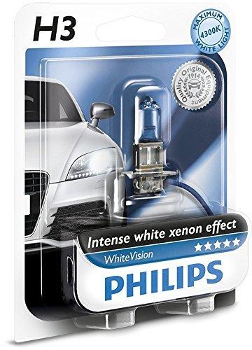 Philips WhiteVision effet xénon H3 pour éclairage avant 12336WHVB1, blister de 1