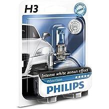 Philips WhiteVision Effetto Xenon H3 Lampada Fari 12336WHVB1, Blister Singolo