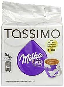 Tassimo Milka Hot Chocolate, Pack of 2, 2 x 8 T-Discs (16 Servings)