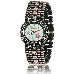 Geneva Platinum Antique Bracelet Analog Whte Dial Women's Watch- GP-194