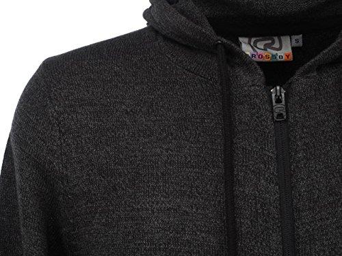 Crossby - Fred black fz cap pull - Veste pull zippée capuche Noir
