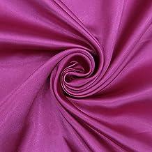 Faux satén tela de seda brillante sólido de color púrpura de corte y confección coser de las telas Por El Metro