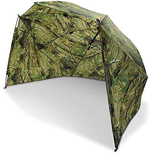 g8ds® 50er Schirm Angelschirm Storm Camouflage Brolly Angelausrüstung Karpfenangeln