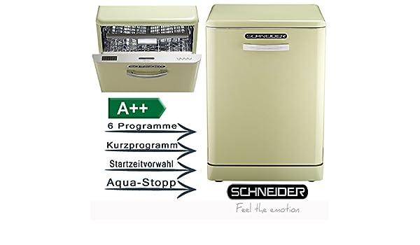 Retro Kühlschrank Schneider : Schneider gsp sg a k hellgrün stand geschirrspüler
