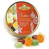 Simpkins Christmas Travel Sweets Tin Mixed Fruits Drops 200g