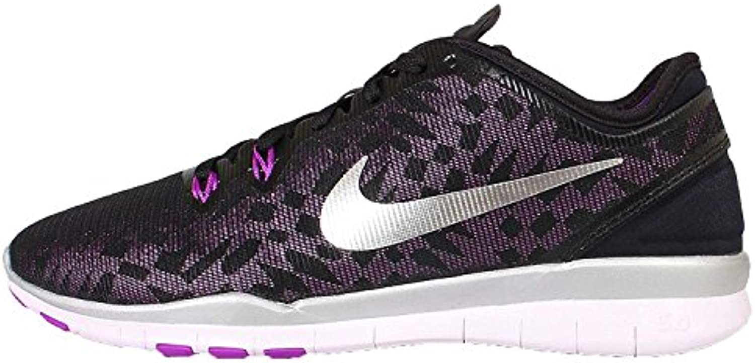 Nike Women'S Free 5.0 TR Fit 5 Prt Training Shoe Women US, Black/Metallic Silver-Vivid Purple-Lght V, 40 B(M)...