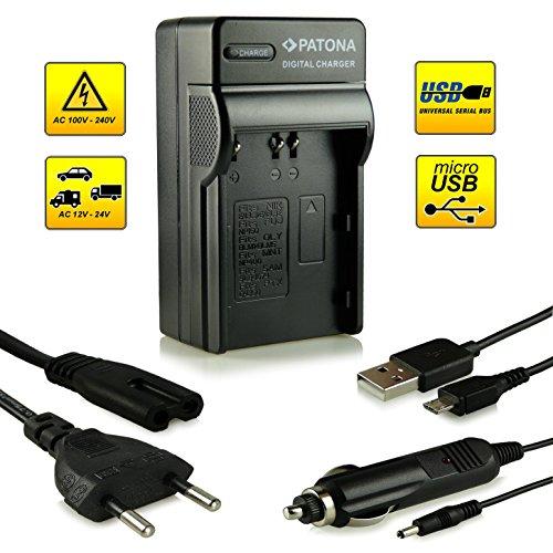 4in1 Caricabatteria EN-EL3 / ENEL3a / EN-EL3E per Nikon D50 | D70 | D70s | D80 | D90 | D100 | D200 | D300 | D300S | D700 e più...