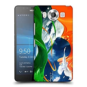 Snoogg Happy Independence Day Designer Protective Back Case Cover For NOKIA LUMIA 950