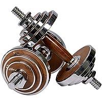 PROIRON Dumbbell Walnut-Steel Dumbbells Set 20KG Adjustable Dumbbell For Gym Office Home (Pair)