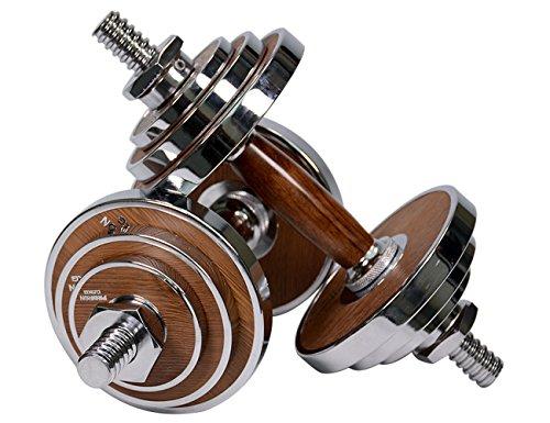 PROIRON Mancuernas ajustables 20kg con mancuernas de acero y nuez para...