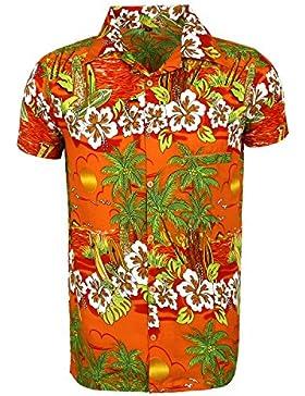 SAITARK -  Camicia Casual  - Floreale - Uomo