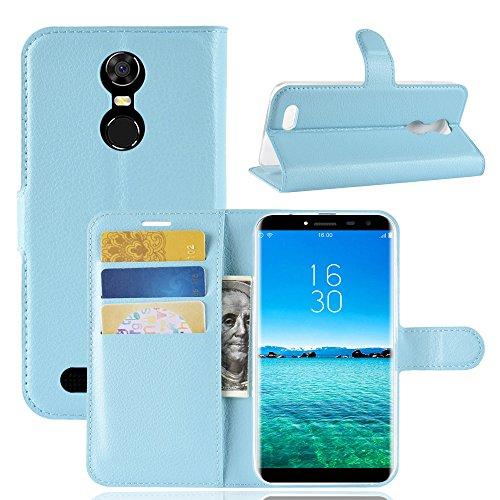 AOBOK Oukitel C8 4G Hülle, Brieftasche Handyhülle [Kartenfach] [Premium Leder] [Standfunktion] [Magnetverschluss] für Oukitel C8 4G - Blau