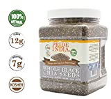 Black Chia Seed Omega-3 & Calcium Superfood, 1.5 lbs Jar