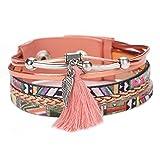 La Cabina Femme Bracelet en PU Cuir Tressé Bijou Fantaisie Mode Bracelet de Poignet...