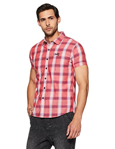 Cherokee by Unlimited Men's Casual Shirt (8907002916860_258227659-SS_Large_Red)