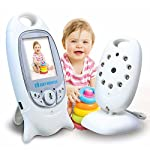 "NYKKOLA Wireless Video Baby Monitor with 2.0"" LCD Digital Camera Night Vision Lullabies Temperature Monitoring and 2 Way Talkback System"