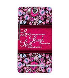 Live Every Moment 3D Hard Polycarbonate Designer Back Case Cover for Micromax Canvas Juice 3+ Q394 :: Micromax Canvas Juice 3Plus Q394