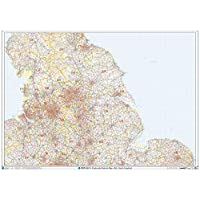 North England - Postcode District Wall Map-Paper