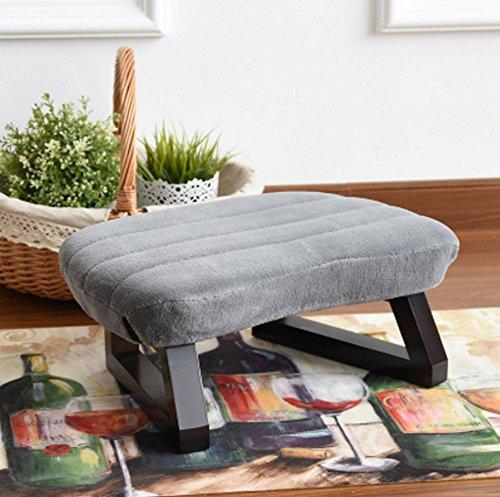 LFFYIZI HJHY Kreative Wohnzimmer Tuch Erwachsenen Schuh Schuh Lazy Sofa Foot Pad Fuß Erhöhen Massivholz Kleinen Stuhl Stuhl korrekte Sitzhaltung (Farbe : Grau)