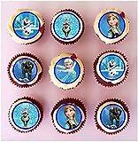 24 obleas comestibles precortadas para decoración de cupcakes de Frozen
