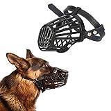 UEETEK Kunststoff Korb Hund Maulkorb für Hund Kein Bite Kein Bellen–Größe M (Schwarz)