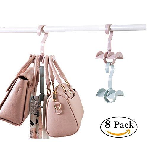 Platzsparend Stapelbar zum Aufhängen Closet Organizer für Handtaschen Handtaschen Krawatte 2Haken (Set von 8) (Großhandel Handtasche Portemonnaie)