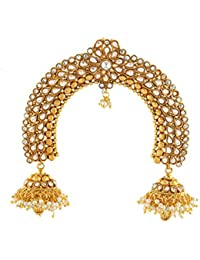 Anuradha Art Adorable Gold Tone Studded With White Stones Ambada Pin/Hair Brooch For Women/Girls